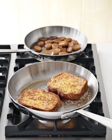 All-Clad d5 Stainless-Steel French Skillets modern-fry-pans-and-skillets