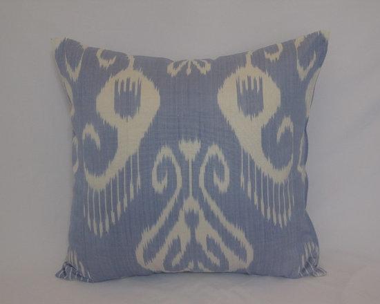 ikat pillow covers, ikat, ikat cushion, yellow ikat, blue ikat, red ikat, ikat - blue ikat pillow cover, ikat, ikat dress 20x20