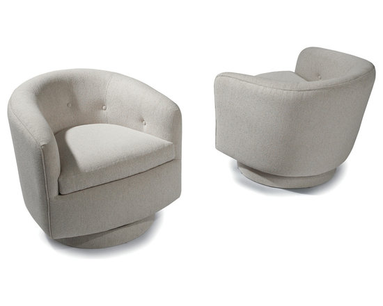 Roxy Swivel and Tilt Tub Chairs by Milo Baughman from Thayer Coggin -