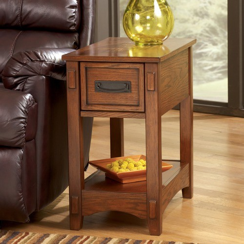 Castle Hill Chairside Table modern-indoor-pub-and-bistro-tables