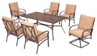 Barnsdale 7pc Dining Eclectic Patio Furniture And