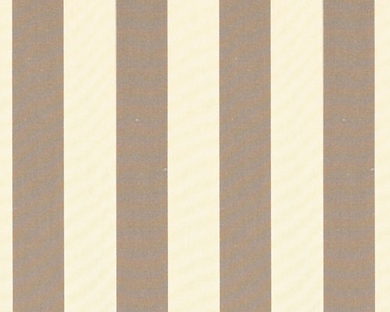 """Ballard Designs - Canopy Stripe Taupe/Sand Sunbrella Fabric by the Yard - Content: 100% Sunbrella® Acrylic. Repeat: Non-railroaded fabric. Care: Mild soap and water. Width: 54"""" wide. Bold taupe & sand canopy stripes woven in washable canvas-like, Sunbrella acrylic Content: 100% Sunbrella Acrylic .  .  . Width: 54"""" wide . Because fabrics are available in whole-yard increments only, please round your yardage up to the next whole number if your project calls for fractions of a yard. To order fabric for Ballard Customer's-Own-Material (COM) items, please refer to the order instructions provided for each product.Ballard offers free fabric swatches: $5.95 Shipping and Processing, ten swatch maximum. Sorry, cut fabric is non-returnable."""