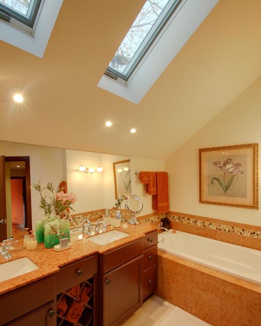 Lake House: Contemporary Bathroom contemporary-bathroom