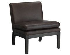 Leather Slipper Chair contemporary-living-room-chairs