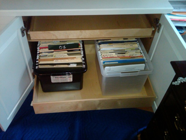 Home Office Pull Out Shelves - Filing Cabinets - boston - by ShelfGenie of Massachusetts