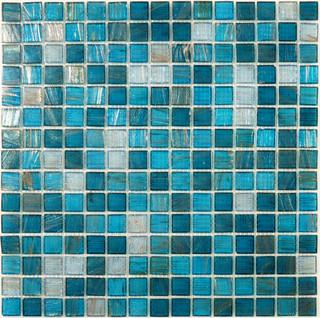 Blue Copper Blend 3 4 Quot X 3 4 Quot Blue Gem Series Glossy Glass