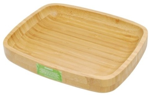 Creative Home Bamboo Serving Tray contemporary-serving-dishes-and-platters