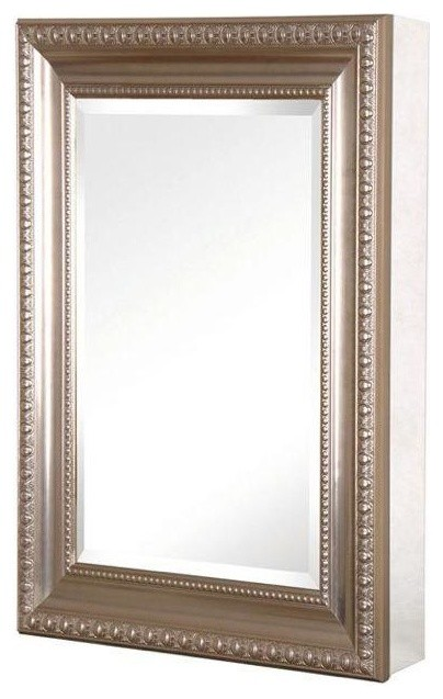15in x 26in recessed or surface mount medicine cabinet brushed nickel contemporary - Modern medicine cabinets recessed ...