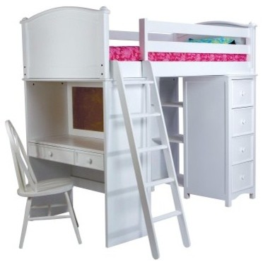 Cooley Sleep Study and Storage Twin Loft traditional-beds