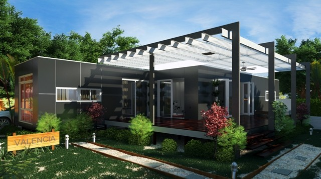 Valencia 3 bed 2 bath prefab container home modern brisbane by nova deko - Container homes queensland ...