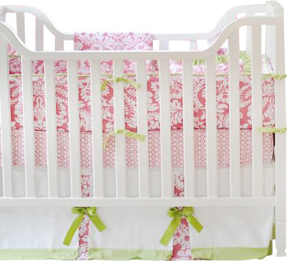 Bloom in Pink Baby Crib Bedding Set 4-Piece contemporary-cribs