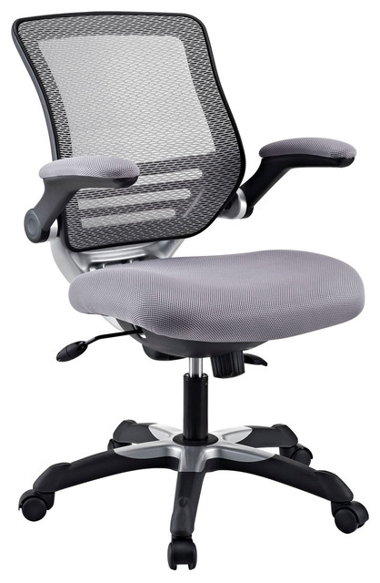 Edge Office Chair with Gray Mesh Back and Mesh Fabric Seat modern-task-chairs