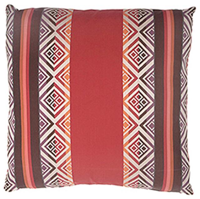 Trading Post Poppy Pillow, 12x20 contemporary-decorative-pillows