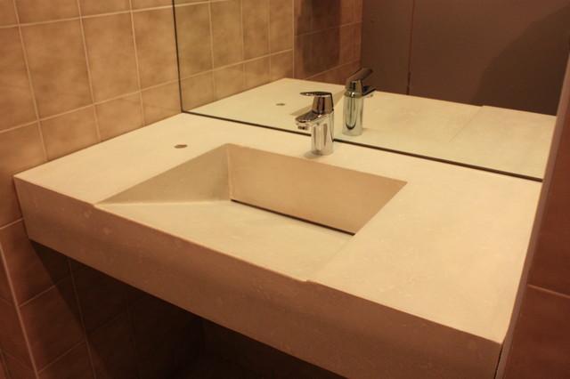 Concrete ramp sink contemporary bathroom sinks toronto by evergreen cast stone - Bathroom vanity tops edmonton design ...