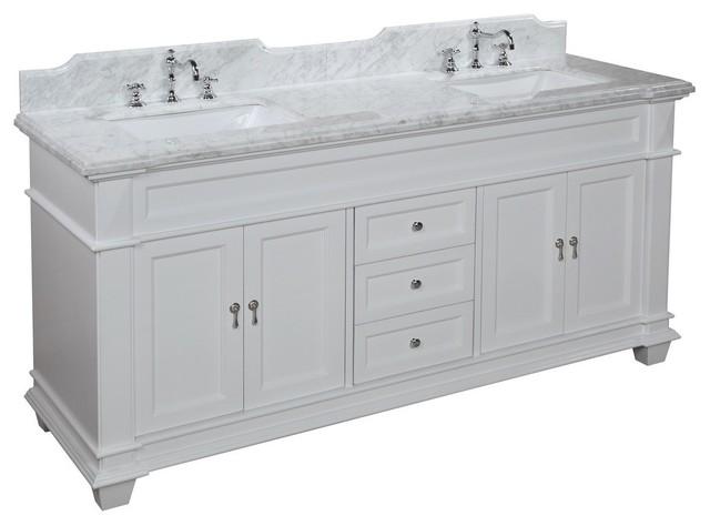 Elizabeth 72 In Bath Vanity Carrara White Transitional Bathroom Vanities And Sink Consoles