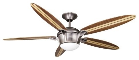Ellington E-SBF58AN5LKRCR2 Surfboard 58 in. Indoor Ceiling Fan - Antique Nickel eclectic ceiling fans