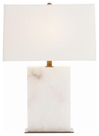 arteriors carson rectangular snow marble vintage brass. Black Bedroom Furniture Sets. Home Design Ideas