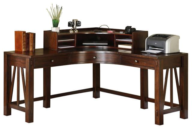 Corner Writing Desk With Hutch Laptop