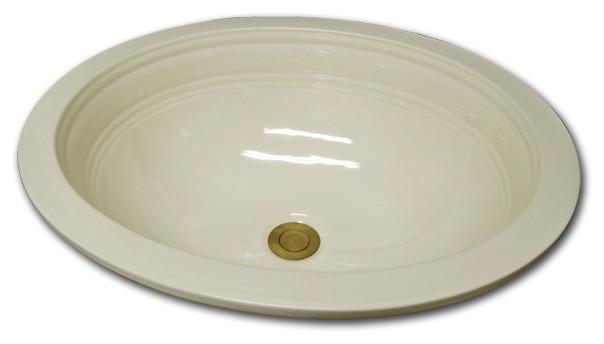 Oval Flat Rim Primary Border bathroom-sinks