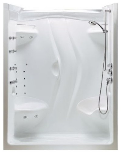 Maax Stamina 60 One Piece Shower Enclosure Without Roof Cap 101142 Moder
