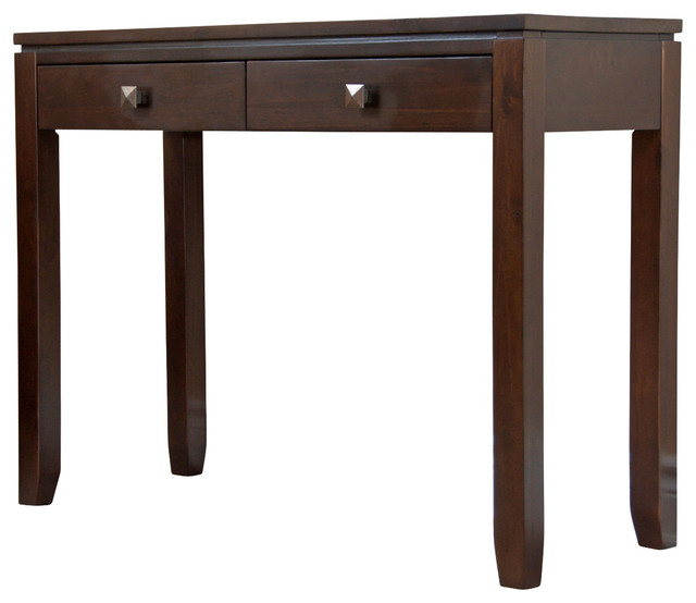 Cosmopolitan 38 inch wide console table in coffee brown for Sofa table 48 inches