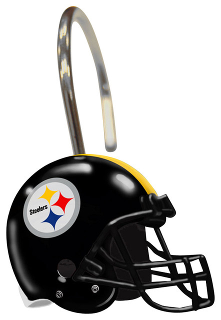 NFL Pittsburgh Steelers Shower Curtain Rings contemporary-shower-curtain-rings
