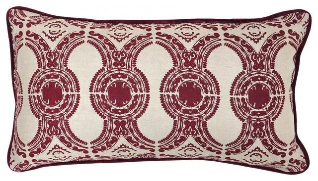 Portico Burgandy Pillow decorative-pillows
