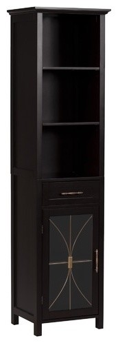Delaney Linen Cabinet with 1 Drawer and 3 Open Shelves modern-bath-products