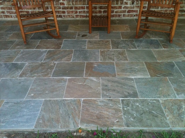 Autumn Slate Patio - Traditional - Deck - houston - by ...
