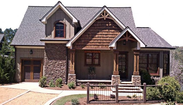 Foot hills cottage traditional exterior atlanta by for Cabin exterior design ideas