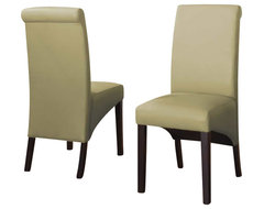 Modus Cosmo Sleigh Back Chair in Kiwi (Set of 2) modern-dining-chairs