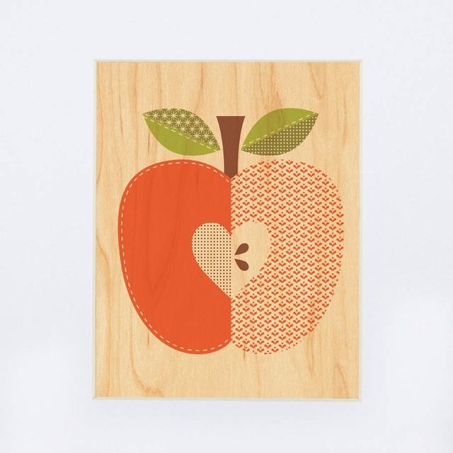 Petit Collage Red Flower - Print on Wood modern-kids-decor
