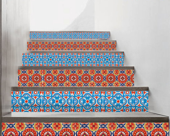 Stair Riser Mexican-Style Decal by Bleucoin -