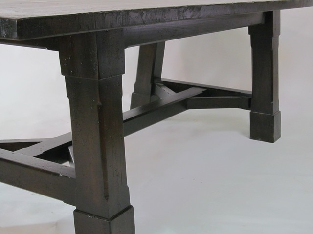 Distressed dinning table contemporary-furniture