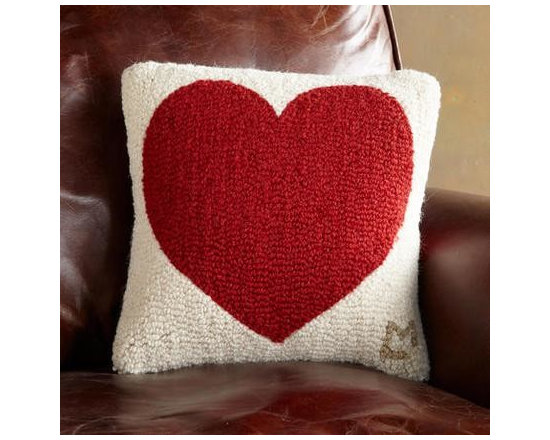 Have a Heart Hooked Pillow -