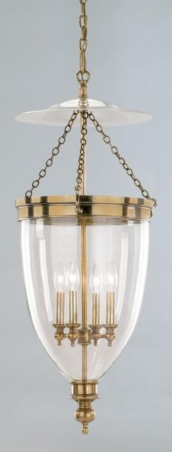 Hudson Valley Lighting 143-AGB Hanover 4 Light Pendant, Aged Brass traditional-pendant-lighting