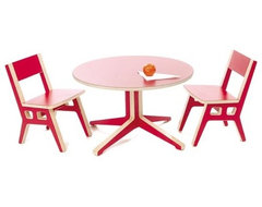 Truss Occasional Table and Kids Chair Set modern kids tables