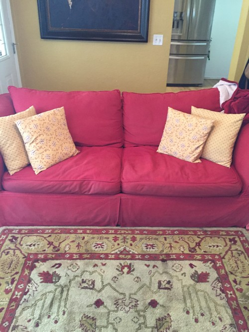 How To Update With Red Couches