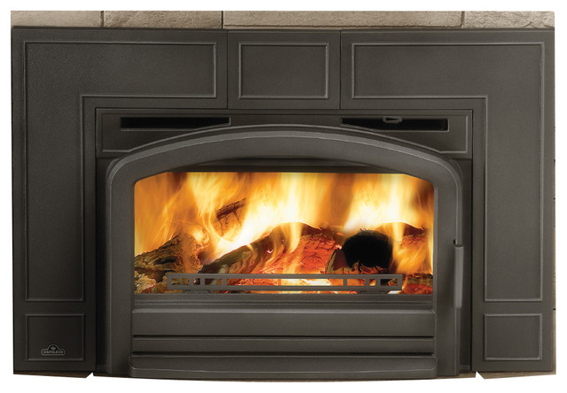 Napoleon epi3 cast iron epa black wood burning insert Contemporary wood burning fireplace inserts