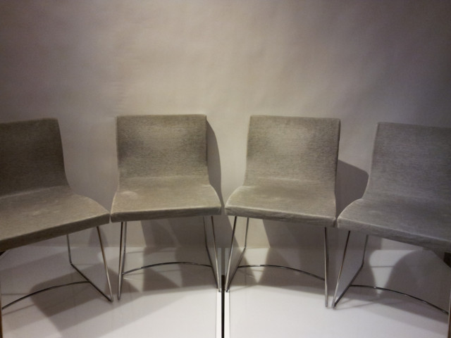 4 grey sala chairs by ligne roset pascal mourgue contemporary living room chairs new york. Black Bedroom Furniture Sets. Home Design Ideas