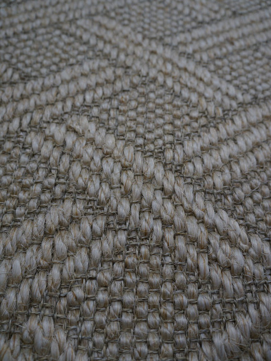 Natural Fiber Rugs & Carpets - This geometric diamond sisal pattern is offered for wall to wall installation, as area rugs of any size up to 16'3 wide and runners.  Choose from a variety of edge bindings including serging, wide cotton, linen, leather, tapestry fabric, Sunbrella and more.  Purchase at Hemphill's Rugs & Carpets Orange County, CA