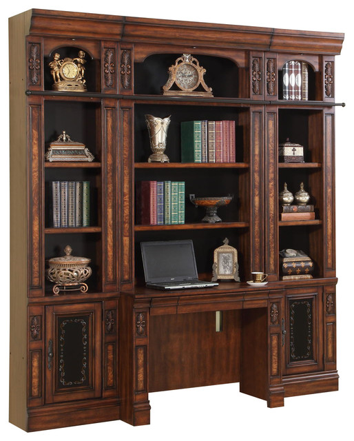 Parker House Leonardo Library Bookcase Wall With Ladder In