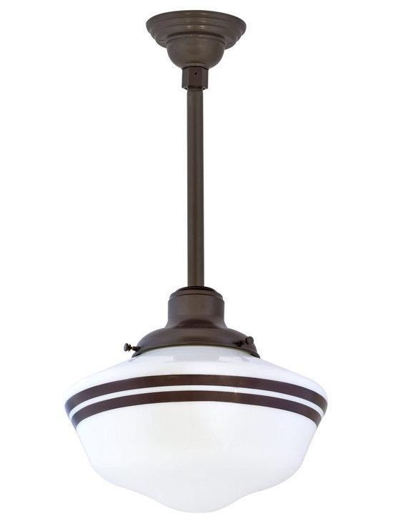 Barn Light Electric - Primary Schoolhouse Stem Mount Light -