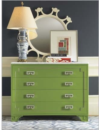 Oscar de la Renta Greek Key Chest - Mediterranean - Accent Chests And Cabinets - by Century ...