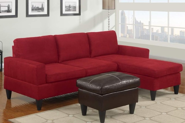 Poundex Furniture - Bobkona All in One Small Sectional Sofa Set ...