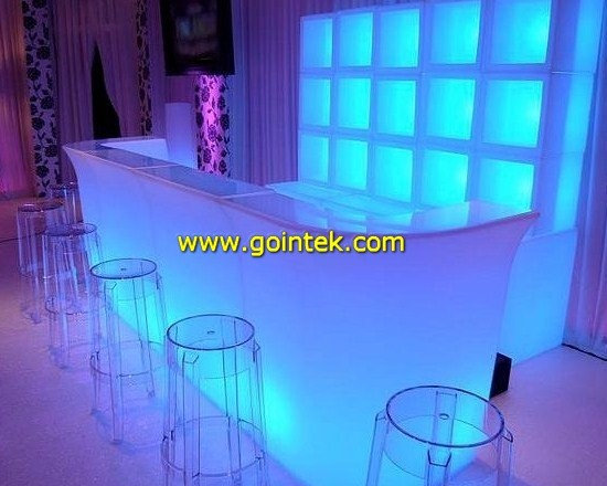 New LED table chair,bar Furniture,club Furniture,Striptease Bar,glowing light LE -