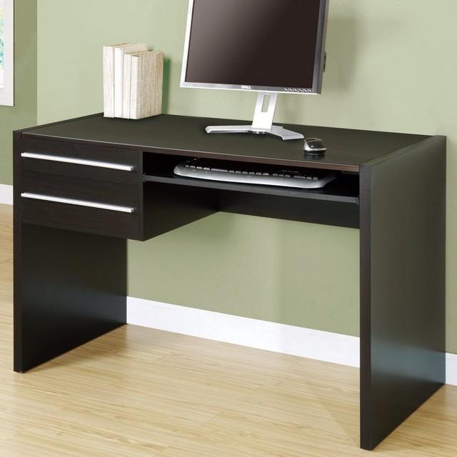 Hollow-Core 48in.L Computer Desk in Cappuccino contemporary-desks