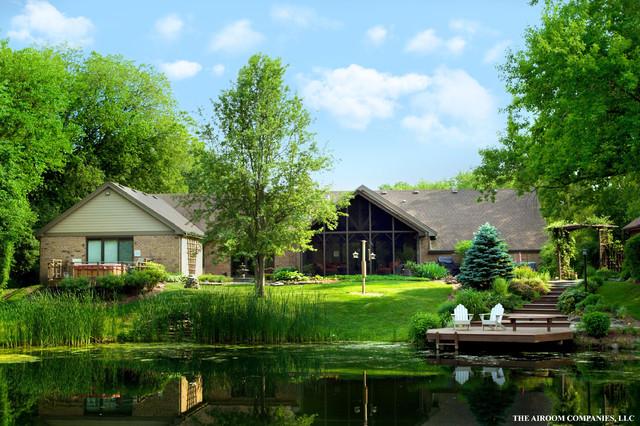 Lake Barrington Lake House traditional-exterior