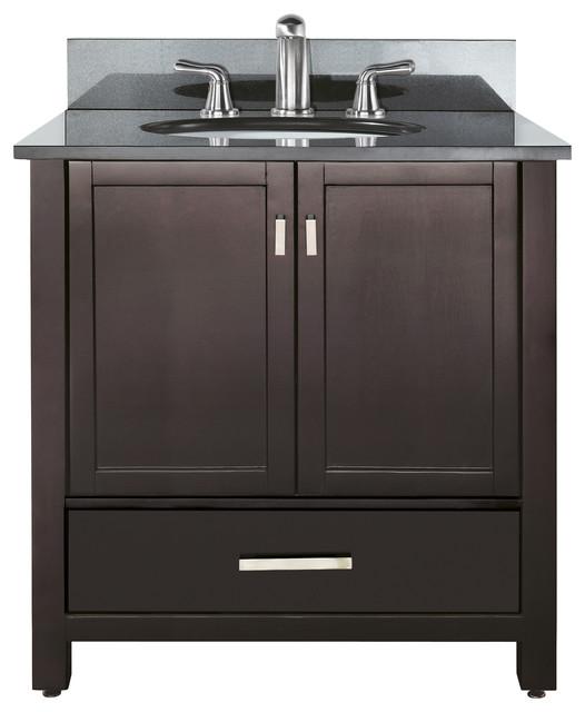 Modero 36 Vanity Combo Espresso, Black Granite Top transitional-bathroom-vanities-and-sink-consoles