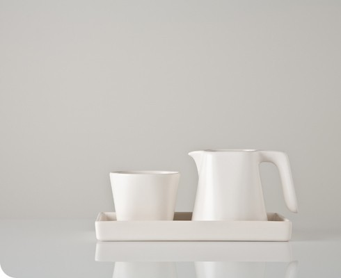 Java Creamer and Sugar Bowl contemporary serveware